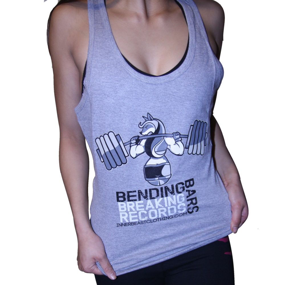 Motivational Gym Wear. Bending bars tank.