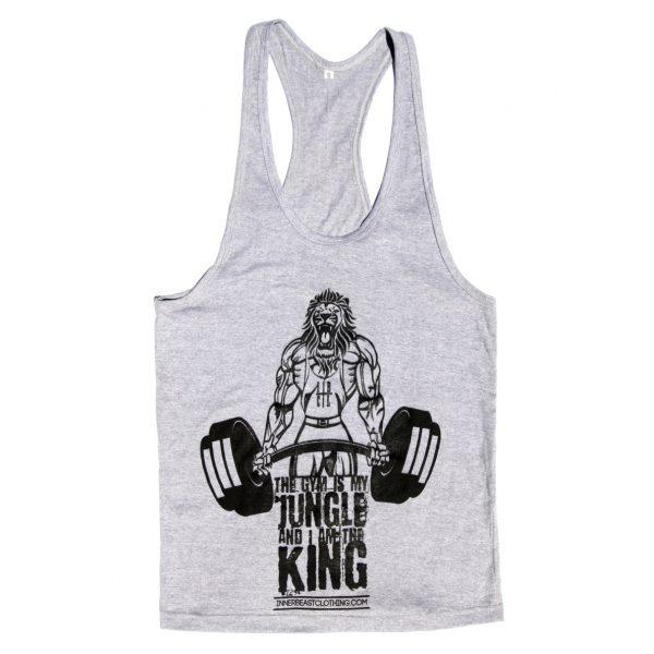 Motivational Gym Wear. King of the jungle tank.