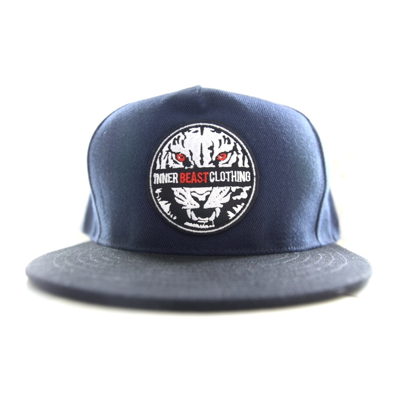 Motivational Gym Wear. Navy Hunter Snap back.